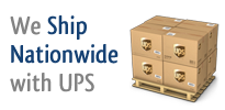 We ship nationwide with UPS